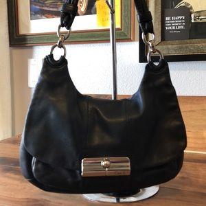 Coach small bag black leather shoulder bag